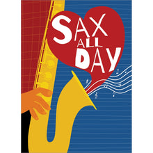 Load image into Gallery viewer, Sax Day Valentine's Day Greeting Card 4 pack