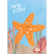 Load image into Gallery viewer, Starfish Birthday Birthday Greeting Card 6 pack