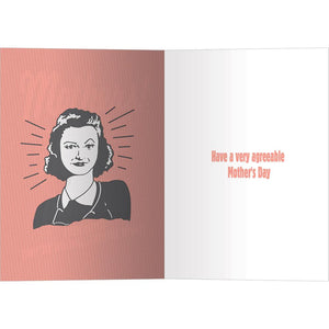 Right Mothers Mother's Day Greeting Card 4 pack