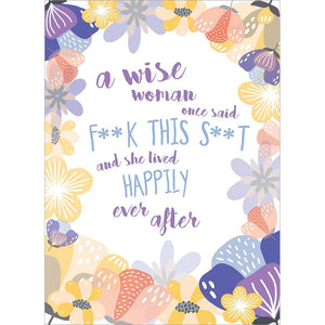 Wise Woman Birthday Greeting Card 6 pack