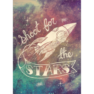 Shoot For The Stars Graduation Greeting Card 4 pack