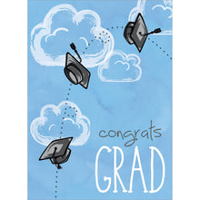 Load image into Gallery viewer, Caps Off Grad Graduation Greeting Card 4 pack