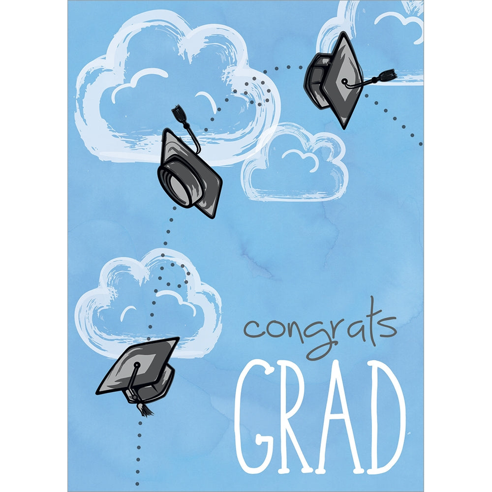 Caps Off Grad Graduation Greeting Card 4 pack