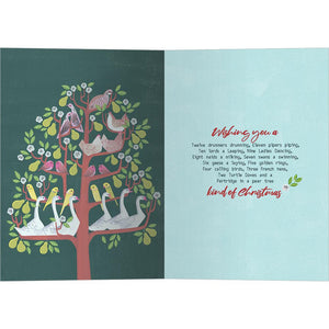 Twelve Days of Christmas Greeting Card 4 Pack