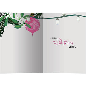Christmas Kisses Greeting Card 6 Pack
