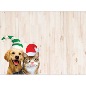 Selfie Pet Christmas Greeting Card