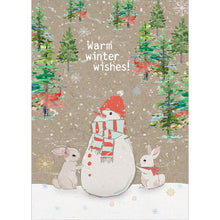 Load image into Gallery viewer, Warm Wishes Snowman Greeting Card 6 Pack