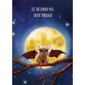 BatMouse Greeting Card 4 Pack