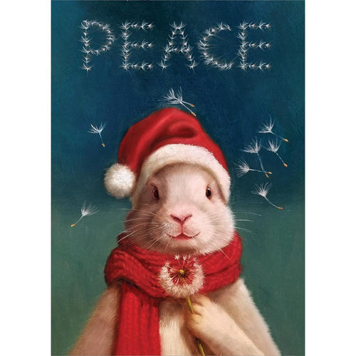 Send This Peace Bunny Holiday Card