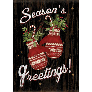 Holiday Mittens Greeting Card 4 Pack