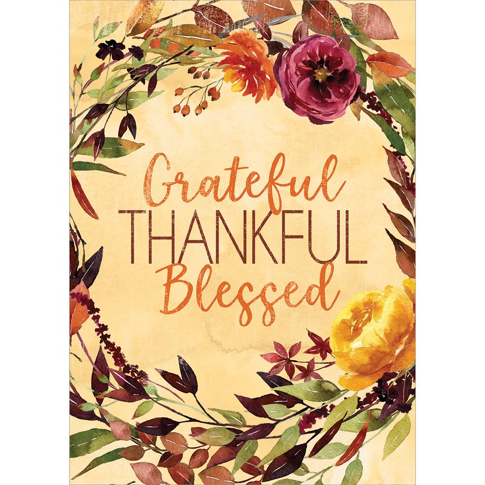 Grateful Blessed Greeting Card