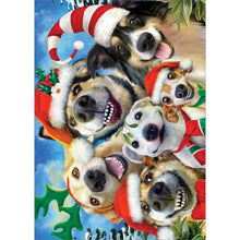 Load image into Gallery viewer, Holiday Dog Selfie Greeting Card