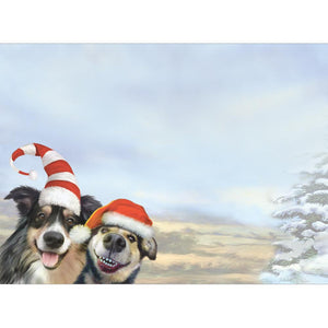 Holiday Dog Selfie Greeting Card