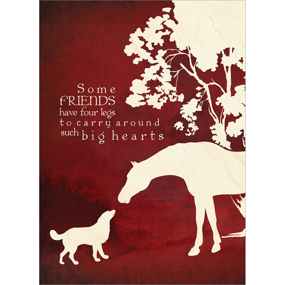 Send This Four Legged Friends Pet Sympathy Card