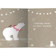 Load image into Gallery viewer, Sweet Polar Christmas Bamboo Box 16 ct Christmas Greeting Card Set