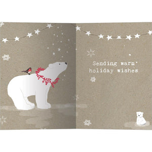 Sweet Polar Christmas Bamboo Box 16 ct Christmas Greeting Card Set