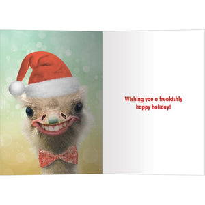 Freakishly Happy Holidays Bamboo Box 16 ct Holiday Greeting Card Set
