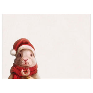 Peace Bunny Bamboo Box 16 ct Holiday Greeting Card Set