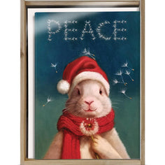 Load image into Gallery viewer, Peace Bunny Bamboo Box 16 ct Holiday Greeting Card Set