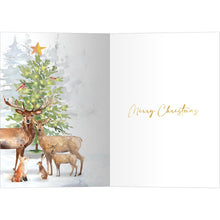 Load image into Gallery viewer, Furry Family Bamboo Box 16 ct Christmas Greeting Card Set