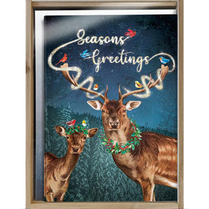 Magical Seasons Greetings Bamboo Box 16 ct Holiday Greeting Card Set