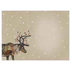 Load image into Gallery viewer, Snow Kissed Reindeer Bamboo Box 16 ct Holiday Greeting Card Set