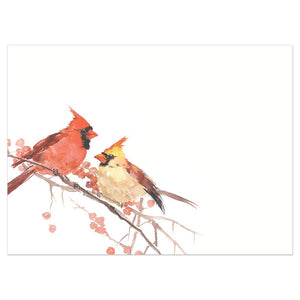 Peace Birds Bamboo Box 16 ct Holiday Greeting Card Set