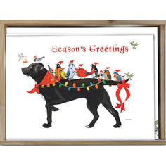 Load image into Gallery viewer, Bird Dog Christmas Bamboo Box 16 ct Christmas Greeting Card Set