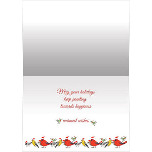 Bird Dog Christmas Bamboo Box 16 ct Christmas Greeting Card Set