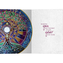 Load image into Gallery viewer, Winter Solstice Mandala Bamboo Box 16 ct Solstice Greeting Card Set