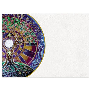 Winter Solstice Mandala Bamboo Box 16 ct Solstice Greeting Card Set