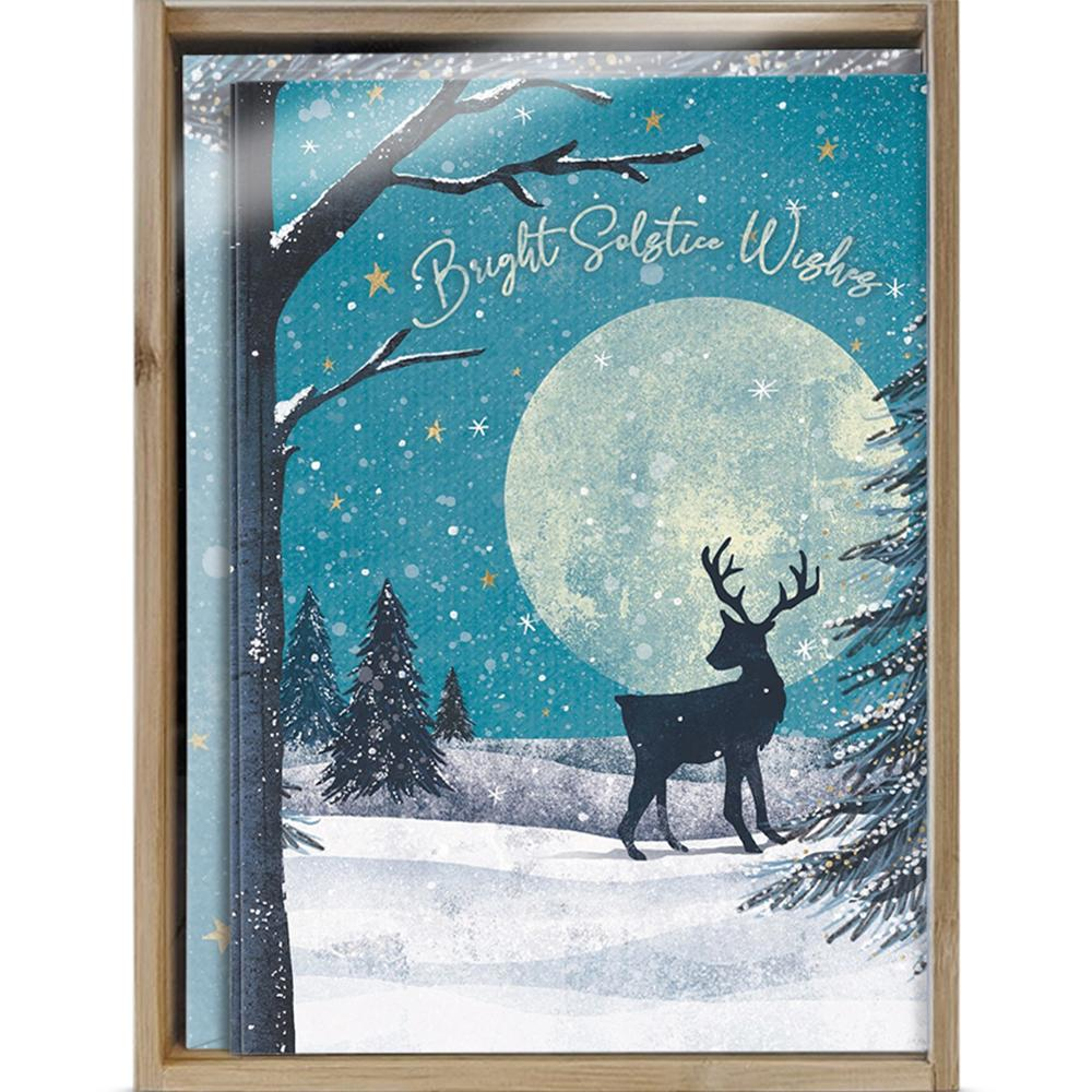 Solstice Wishes Bamboo Box 16 ct Solstice Greeting Card Set