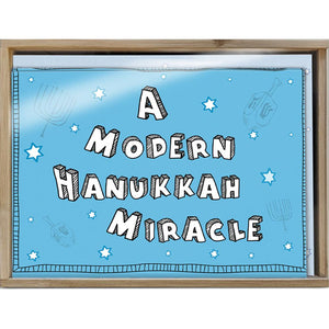 Modern Miracle Bamboo Box 16 ct Hanukkah Greeting Card Set
