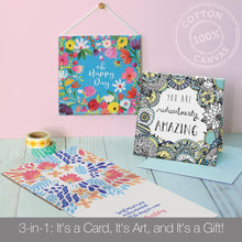 Load image into Gallery viewer, Vibrant Birthday Canvas Card Assorted 4 Pack