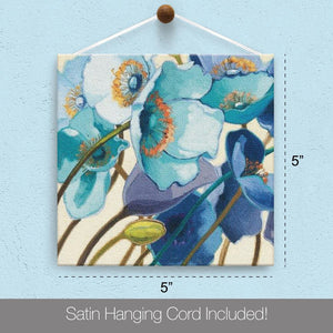 Blue Floral Friendship Canvas Card Assorted 4 Pack
