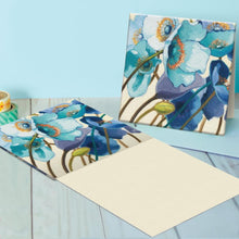 Load image into Gallery viewer, Blue Floral Friendship Canvas Card Assorted 4 Pack