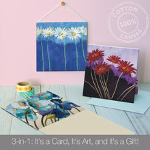 Load image into Gallery viewer, Classic Floral Blank Canvas Card Assorted 4 Pack