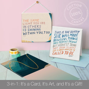 MHN All Occasion Canvas Card Assorted 4 Pack