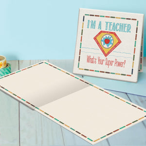 Teacher Canvas Card Assorted 4 Pack