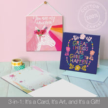 Load image into Gallery viewer, Girls Rule All Occasion Canvas Card Assorted 4 Pack