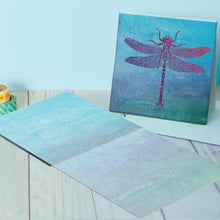 Load image into Gallery viewer, Butterflies And Dragonflies Canvas Card Assorted 4 Pack