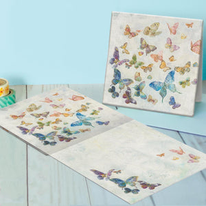 Butterflies And Dragonflies Canvas Card Assorted 4 Pack
