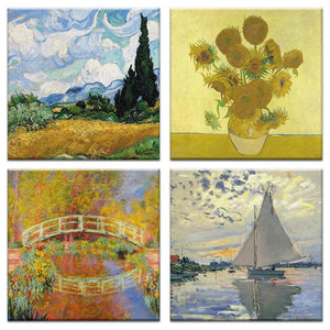 Artist Inspired Canvas Card Assorted 4 Pack