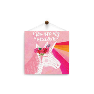 You Are My Unicorn  Birthday Thumb-Tack Canvas Art Card