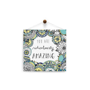Ridiculously Amazing  Birthday Thumb-Tack Canvas Art Card 4 pack