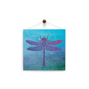 Dragonfly Print  All Occasion Thumb-Tack Canvas Art Card