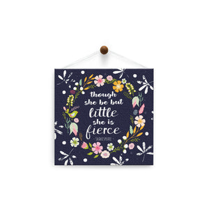 She Is Fierce  All Occasion Thumb-Tack Canvas Art Card