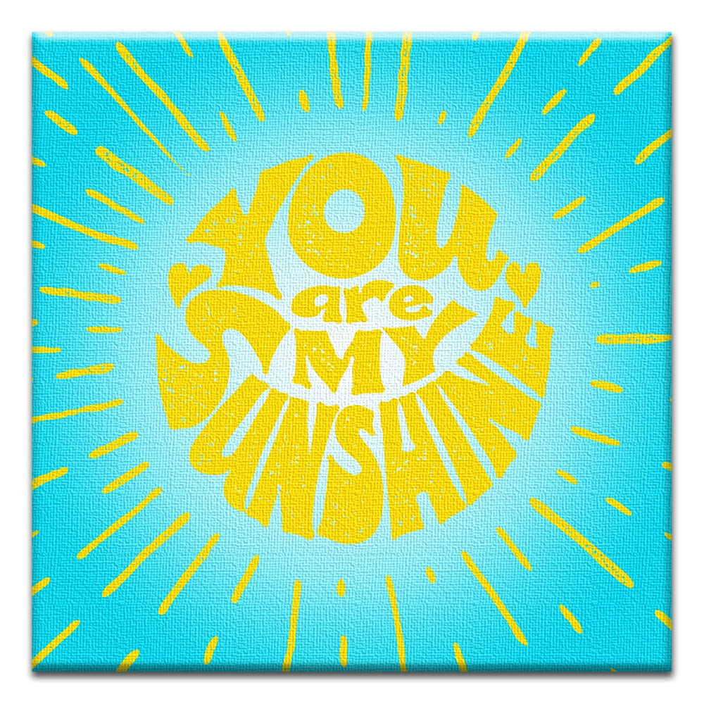 My Sunshine  All Occasion Thumbtack Canvas Art Card 4 pack