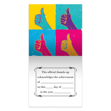 Load image into Gallery viewer, Thumbs Up  Congratulations Thumb-Tack Canvas Art Card 4 pack