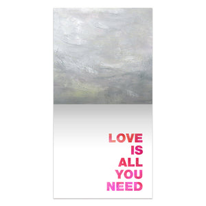 All You Need Is Love  Love Thumb-Tack Canvas Art Card